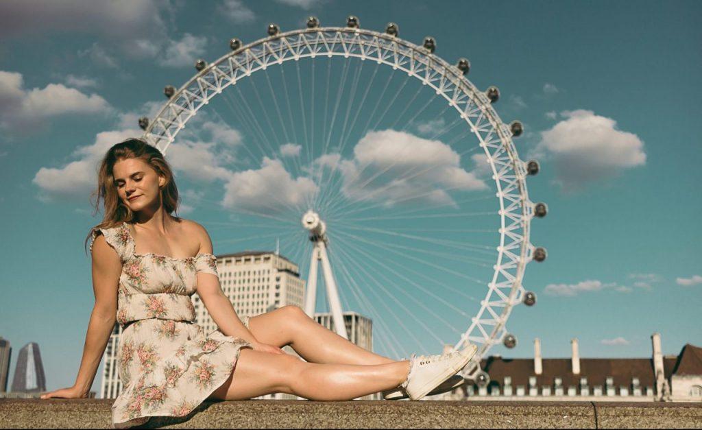 Ensaio feminino na London Eye realizado por fotógrafa brasileira em Londres