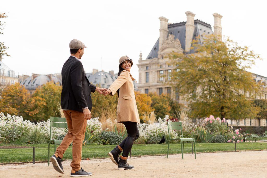 Fotógrafo brasileiro em Paris : Ensaio casal no Jardim de Tuileries