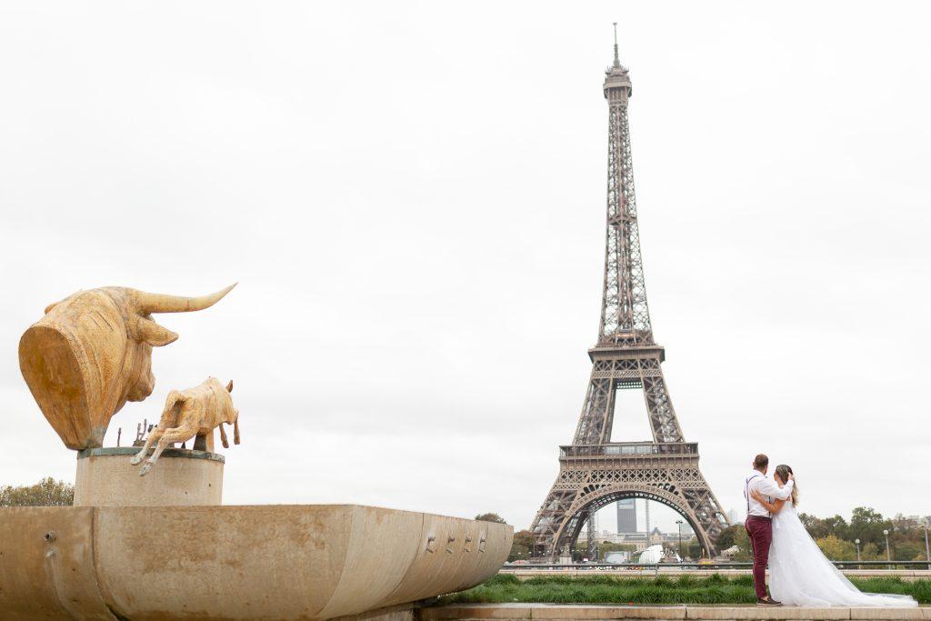 Fotógrafo brasileiro em Paris : Ensaio de casamento na Torre Eiffel