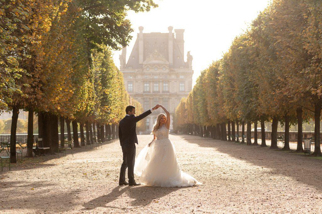 Fotógrafo brasileiro em Paris : Ensaio de casamento no Jardim de Tuileries
