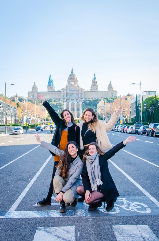 Fotógrafo brasileiro em Barcelona : Fotos em Montjuic durante ensaio de amigas