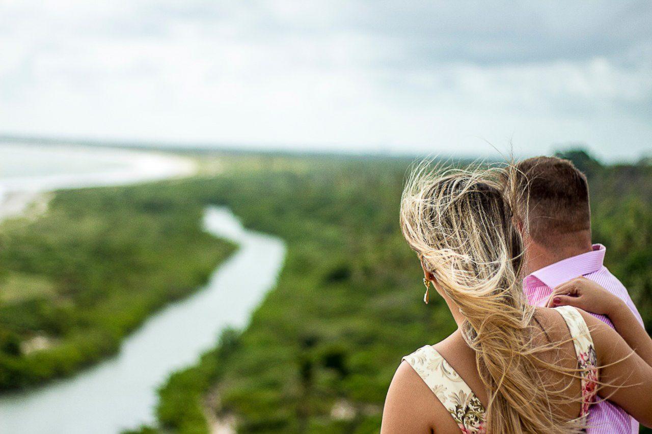 Ensaio Casal em João Pessoa assistindo nascer do sol - Ensaio em Jampa com fotografo profissional