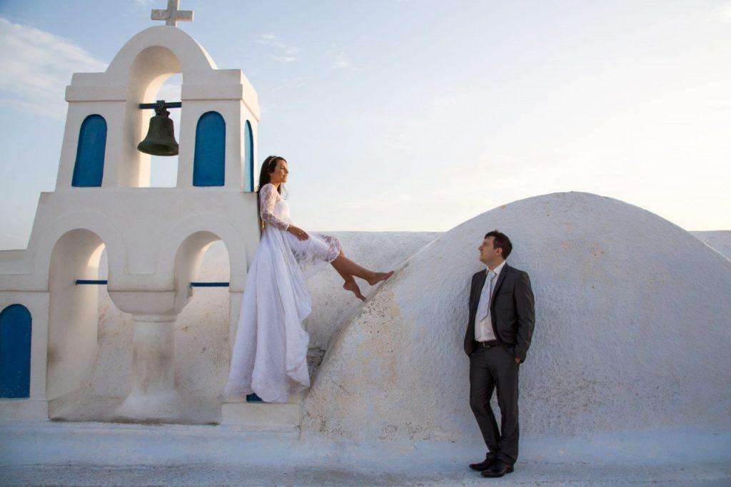 Casamento em Santorini com nossa fotógrafa brasileira em Oia na Grécia