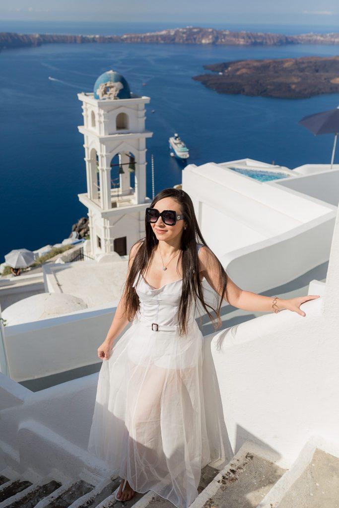 Ensaio na Grécia com nossa fotógrafa brasileira em Santorini