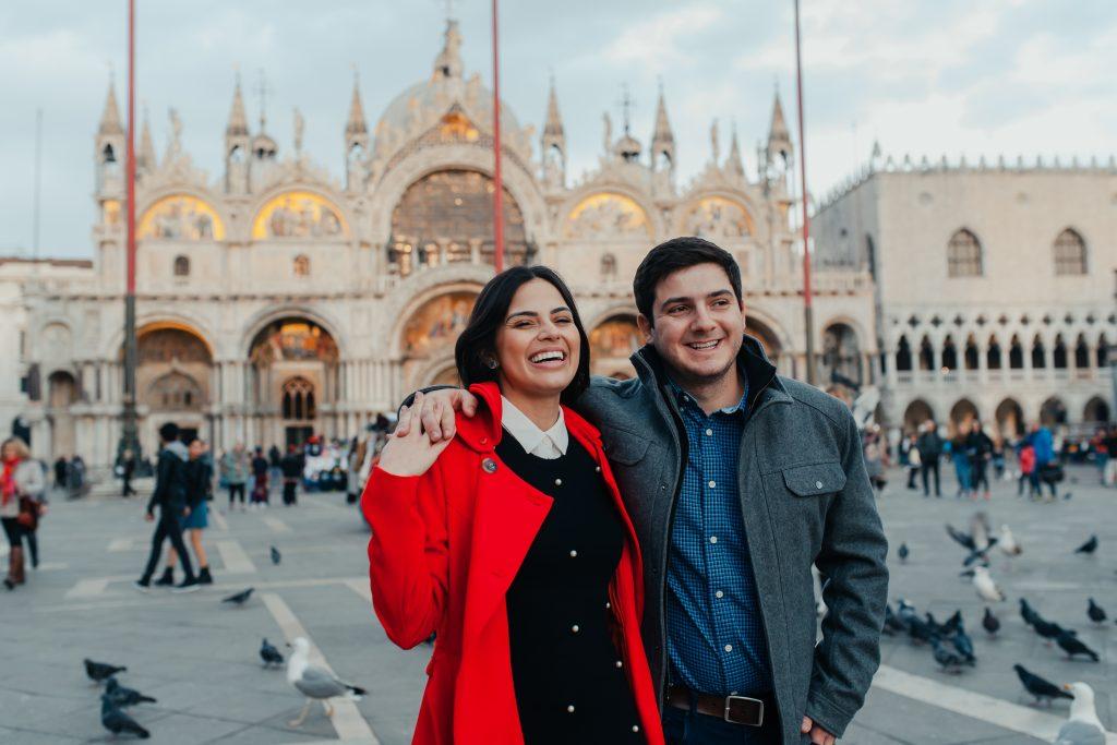 Fotógrafo brasileiro em Veneza : Fotos em Veneza - Ensaio casal na Praça São Marcos