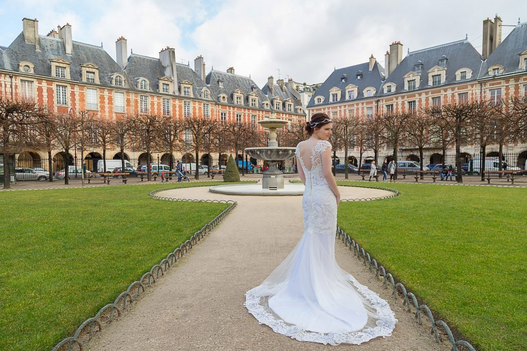 Ensaio Noiva na Place des Vosges em Paris por fotógrafa brasileira