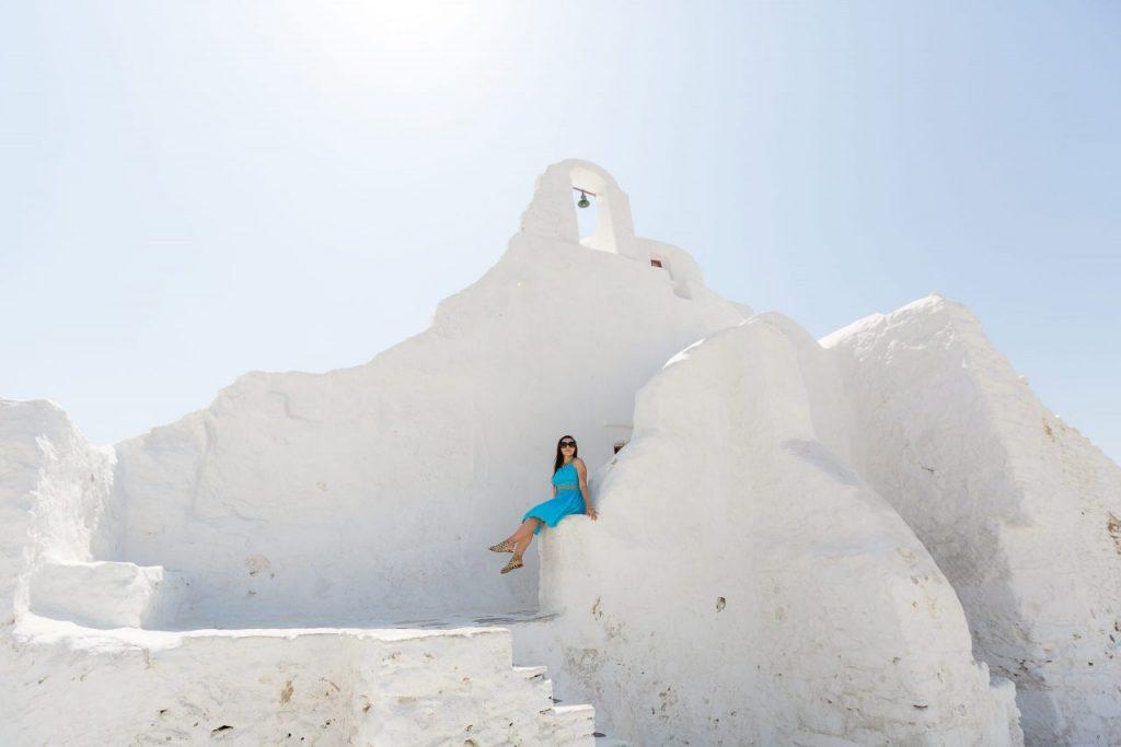 Ensaio feminino nas ilhas gregas com fotógrafa brasileira em Mykonos