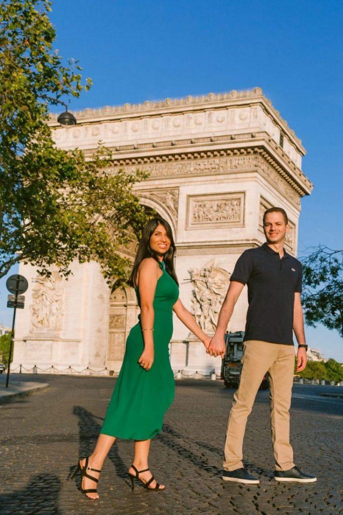 Fotógrafo brasileiro em Paris : Ensaio casal no Arco do Triunfo