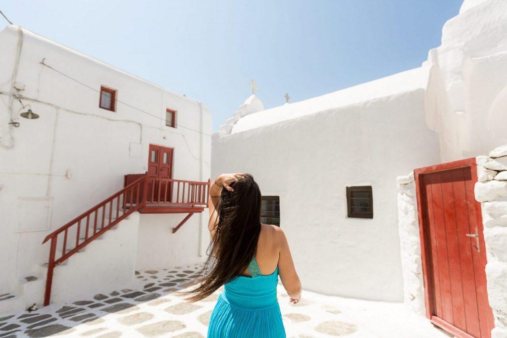 Fotos na Grécia com fotógrafa brasileira em Mykonos