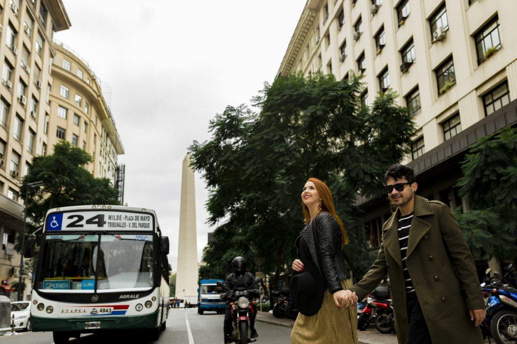Ensaio no Obeslico com nossa fotógrafa brasileira em Buenos Aires