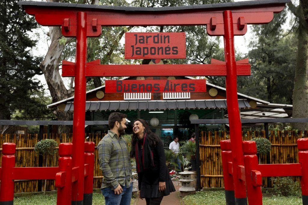 Ensaio lua de mel no Jardim Japonês por fotógrafo brasileiro em Buenos Aires