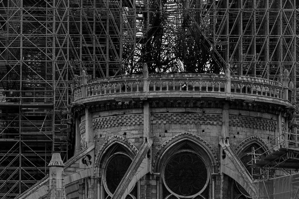 Catedral Notre-Dame apósincêndio de 2019