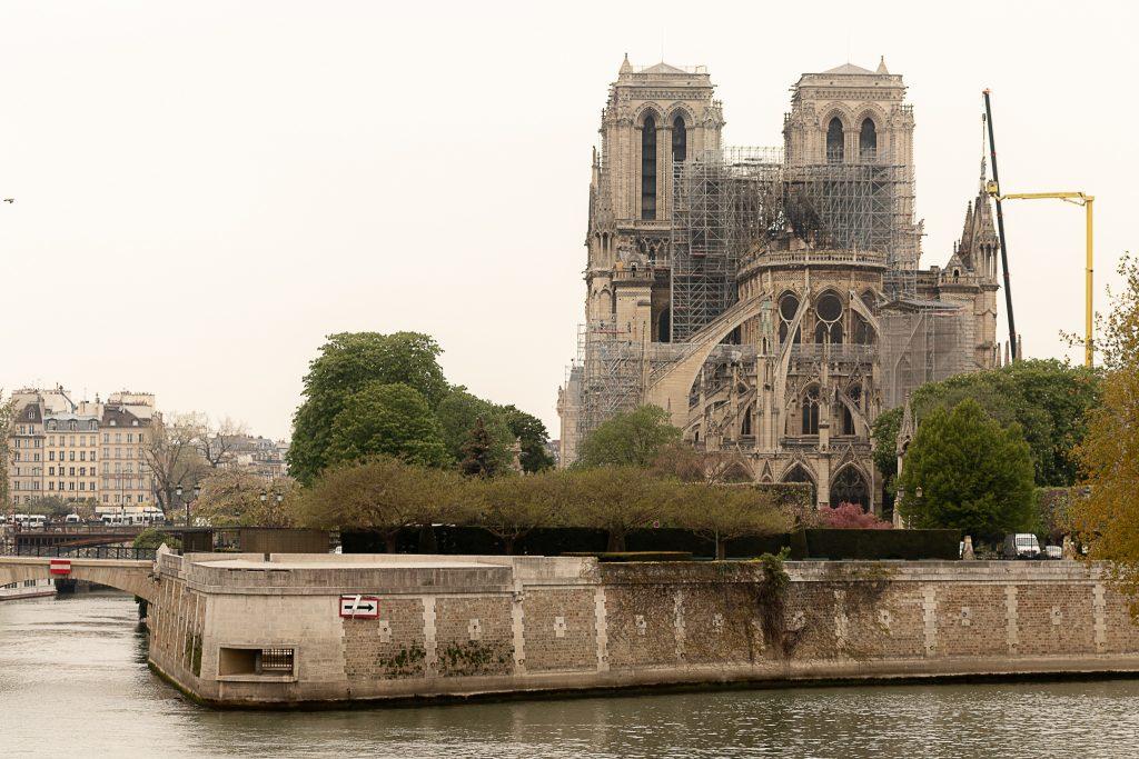 Reconstrução da Catedral Notre-Dame após incêndio de 2019