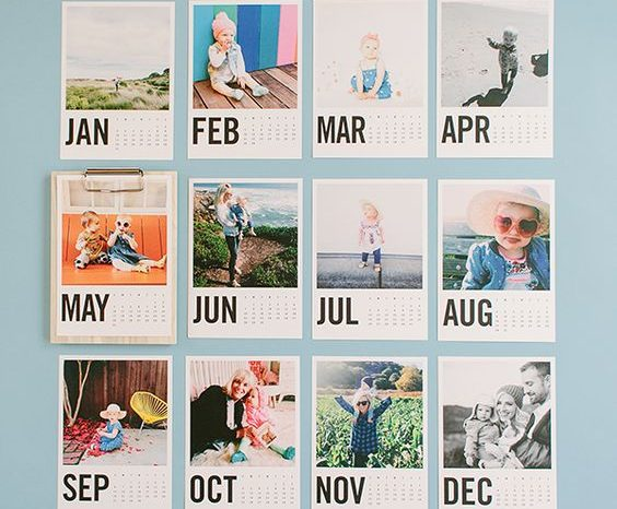Calendário Polaroids 2021
