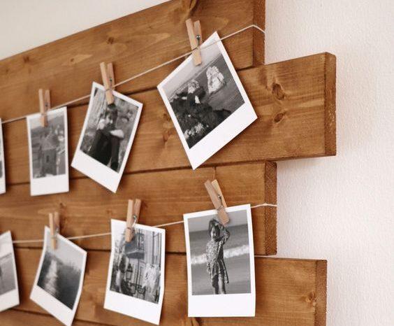 Varal de Fotos Polaroids