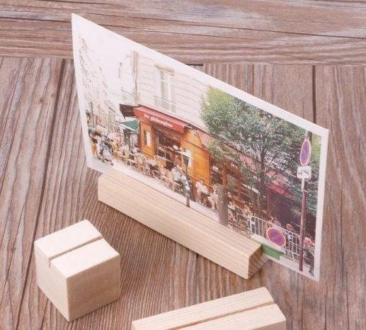 Kit Suporte em madeira para foto