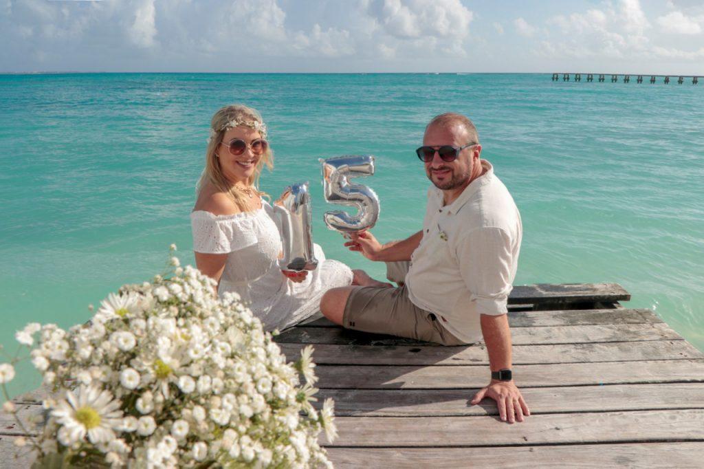 Comemoração de bodas em Cancun - Fotógrafo brasileiro no Caribe